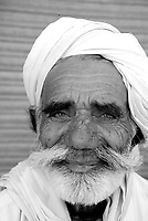 Portrait of an indian man in Rajasthan