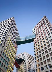 Modern high rise apartment buildings in Beijing China 2009