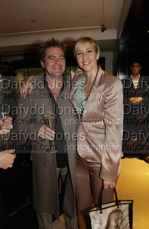 Charles Worthington and tanya Bryer, Terry O'Neill to celebrate his book, 'Celebrity' at Dunhill,  28 October 2003. © Copyright Photograph by Dafydd Jones 66 Stockwell Park Rd. London SW9 0DA Tel 020 7733 0108 www.dafjones.com