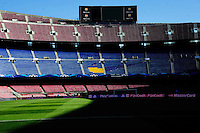 Illustration Camp Nou - Pub Nike Cache - 21.04.2015 - Barcelone / Paris Saint Germain - 1/4Finale Retour Champions League<br />