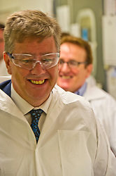 Pictured: Keith Brown<br /> <br /> The Economy Secretary, Keith Brown visited Ingenza today to view the laboratory facilities and met employees to discuss recruitment challenges posed by Brexit.<br /> <br /> Ger Harley | EEm 4 October 2017