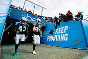 December 17, 2017: Carolina Panthers vs the Greenbay Packers. Fozzy Whittaker, Christian McCaffrey