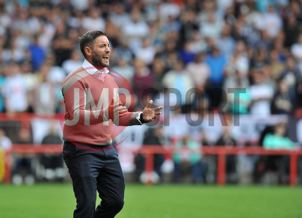 Bristol City head coach Lee Johnson - Mandatory by-line: Paul Knight/JMP - 17/09/2016 - FOOTBALL - Ashton Gate Stadium - Bristol, England - Bristol City v Derby County - Sky Bet Championship