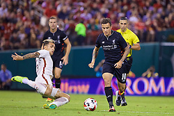 ST. LOUIS, USA - Monday, August 1, 2016: Liverpool's Philippe Coutinho Correia in action against AS Roma's Leandro Paredes during a pre-season friendly game on day twelve of the club's USA Pre-season Tour at the Busch Stadium. (Pic by David Rawcliffe/Propaganda)