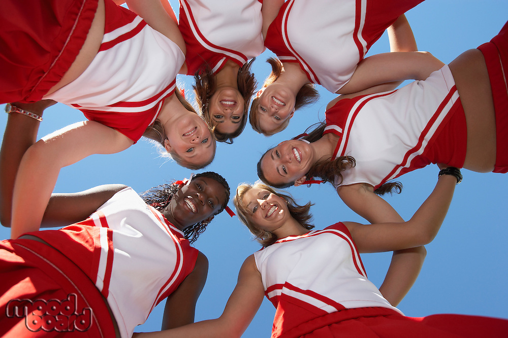 Cheerleaders in Huddle