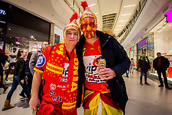 Macedonian fans before handball match between National teams of Slovenia and Macedonia on Day 2 in Preliminary Round of Men's EHF EURO 2018, on January 13, 2018 in Arena Zagreb, Zagreb, Croatia. Photo by Ziga Zupan / Sportida