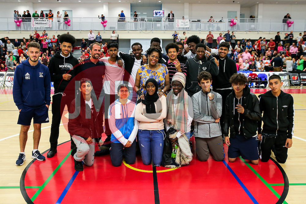 Half Time Group Photo - Rogan Thomson/JMP - 21/10/2016 - BASKETBALL - SGS Wise Arena - Bristol, England - Bristol Flyers v Leicester Riders - BBL Championship.
