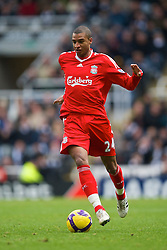 NEWCASTLE, ENGLAND - Sunday, December 28, 2008: Liverpool's David Ngog in action against Newcastle United during the Premiership match at St James' Park. (Photo by David Rawcliffe/Propaganda)