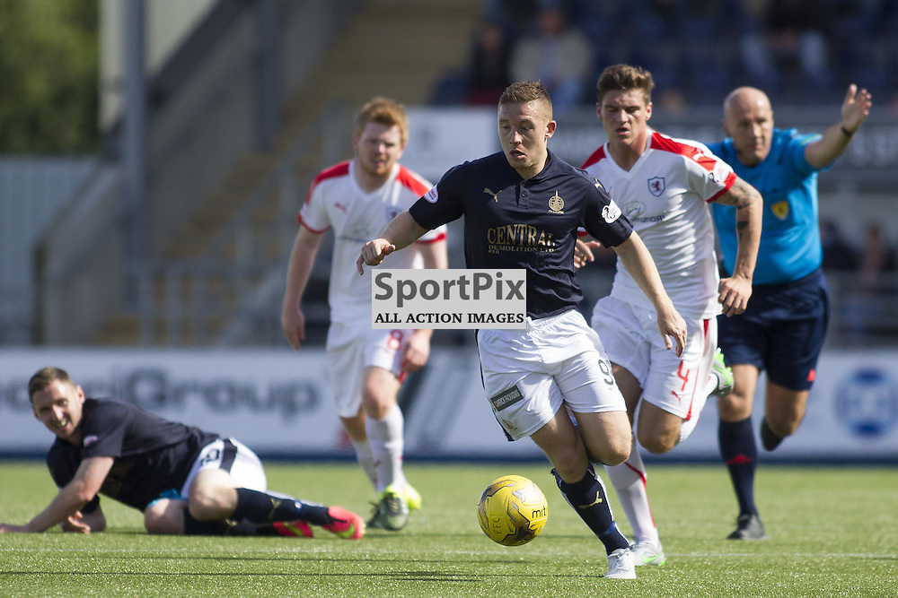 FALKIRK, SCOTLAND - AUGUST 15: John Baird (9) in action. Falkirk vs Raith Rovers, Ladbrokes SPFL Championship match. August 15th 2015. Photo by Jonathan Faulds/SportPix