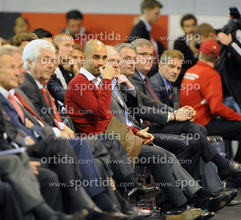 13.11.2013, Audi Dome, Muenchen, GER, 1. FBL, Jahreshauptversammlung FC Bayern Muenchen, im Bild Trainer Pep Guardiola (FC Bayern Muenchen) // during the annual General Meeting of 2013 at the Audi Dome in Muenchen, Germany on 2013/11/13. EXPA Pictures &copy; 2013, PhotoCredit: EXPA/ Eibner-Pressefoto/ Stuetzle<br /> <br /> *****ATTENTION - OUT of GER*****
