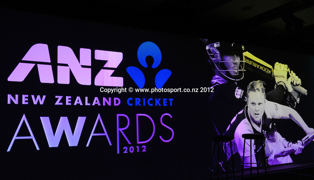 Sponsors backdrop at the Pullman Hotel for the 2012 ANZ New Zealand Cricket Awards. Auckland, Thursday 18 October 2012. Photo: Andrew Cornaga/Photosport.co.nz