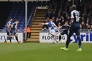 Bristol Rovers Rory Gaffney (30) scores a goal 2-0 first half during the EFL Sky Bet League 1 match between Bristol Rovers and Southend United at the Memorial Stadium, Bristol, England on 11 March 2017. Photo by Gary Learmonth.