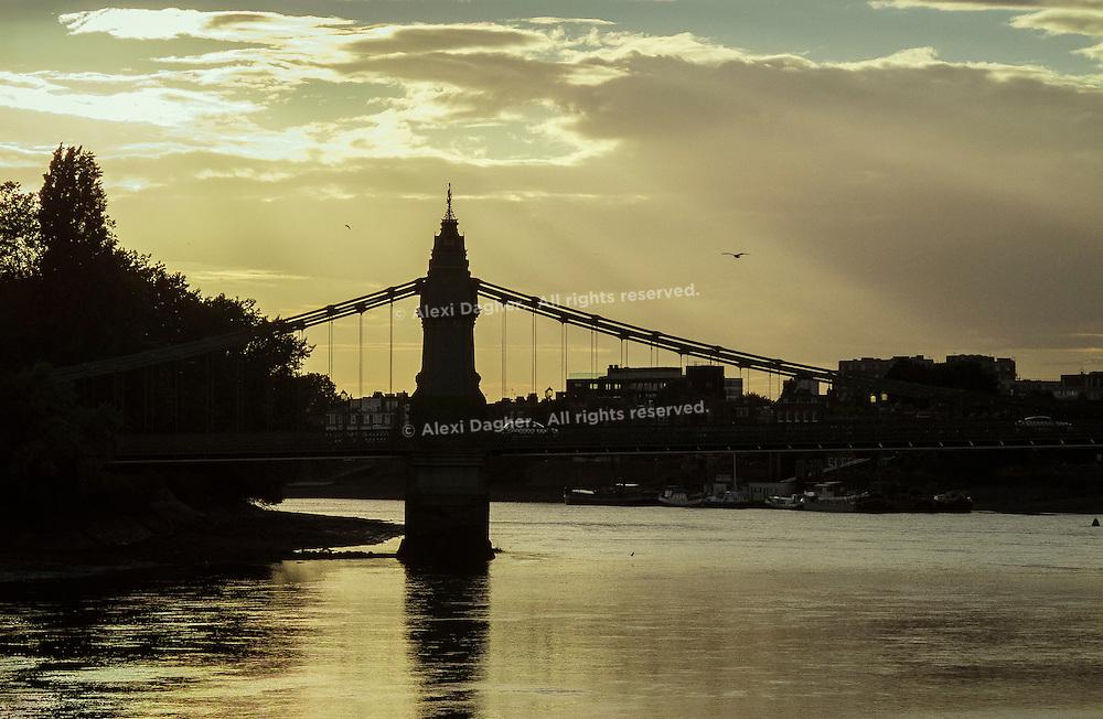 Hammersmith Bridge Sunset - London, England, 2016