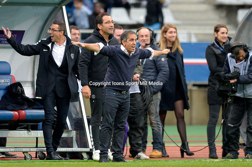 Farid Benstiti - 26.04.2015 - Paris Saint Germain / Wolfsbourg - 1/2Finale Champions League feminine<br />Photo : Andre Ferreira / Icon Sport