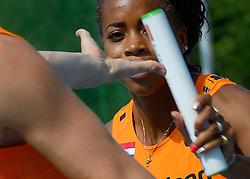 06-08-2015 NED: Training Nederland Estafette team, Arnhem<br /> Op Papendal trainde het Nederlands vrouwenteam met Jamile Samuel