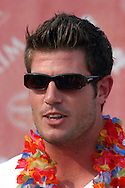 "ATLANTIC CITY, NJ - JUNE 26: Pro football player Jesse Palmer arrives at the Maxim Magazine Presents ""Fantasy Island"" at the Borgata Hotel Casino and Spa June 26, 2004 in Atlantic City, New Jersey. The event consisted of two music stages and four unique themed areas, providing a wide array of entertainment for guests; South Beach Venice Beach, Stuffland, and The Oasis. (Photo by William Thomas Cain/Getty Images)"