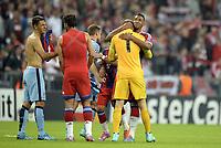 Fotball<br /> Tyskland<br /> 17.09.2014<br /> Foto: Witters/Digitalsport<br /> NORWAY ONLY<br /> <br /> Spielende v.l. Torwart Joe Hart, Jerome Boateng (Bayern)<br /> <br /> Fussball, Champions League, Gruppenphase, FC Bayern München - Manchester City 1:0