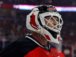 Oct 24, 2008; Newark, NJ, USA; New Jersey Devils goalie Martin Brodeur (30) during the first period of the Devils game against the Philadelphia Flyers at the Prudential Center.