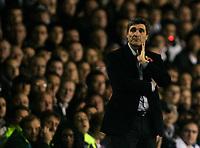 Photo: Tom Dulat.<br /> <br /> Tottenham Hotspur v Blackpool. Carling Cup. 31/10/2007.<br /> <br /> New manager of Tottenham Hotspur Juande Ramos.