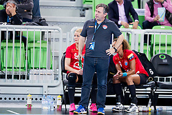 Aurelian Rosca, head coach of HCM Baia Mare during handball match between RK Krim Mercator (SLO) and HCM Baia Mare (ROM) in 1st Round of Women's EHF Champions League 2015/16, on October 16, 2015 in Arena Stozice, Ljubljana, Slovenia. Photo by Urban Urbanc / Sportida