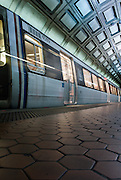 Image of a Washington, D.C. metro train at Union Station.
