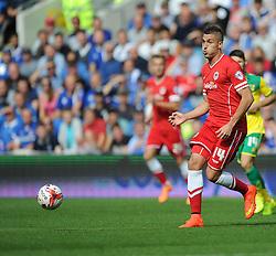 Cardiff City's Federico Macheda- Photo mandatory by-line: Alex James/JMP - Mobile: 07966 386802 30/08/2014 - SPORT - FOOTBALL - Cardiff - Cardiff City stadium - Cardiff City  v Norwich City - Barclays Premier League