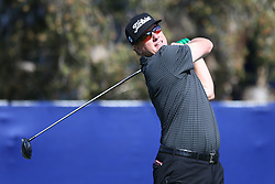 January 25, 2018 - San Diego, California, United States - Charley Hoffman tees off the 7th hole during the first round of the 2018 Farmers Insurance Open at Torrey Pines GC. (Credit Image: © Debby Wong via ZUMA Wire)