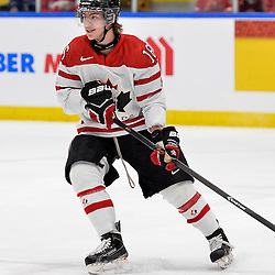 WHITBY, - Dec 14, 2015 -  Game #4 - Russia vs. Canada East at the 2015 World Junior A Challenge at the Iroquois Park Recreation Complex, ON. Makail Parker #16 of Team Canada East during the first period.<br /> (Photo: Shawn Muir / OJHL Images)