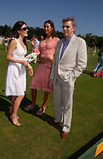 Jaime Murray,Natalya Petouchkova, John Stephen<br />. Veuve Clicquot Gold Cup Final at Cowdray Park. Midhurst. 17 July 2005. ONE TIME USE ONLY - DO NOT ARCHIVE  © Copyright Photograph by Dafydd Jones 66 Stockwell Park Rd. London SW9 0DA Tel 020 7733 0108 www.dafjones.com