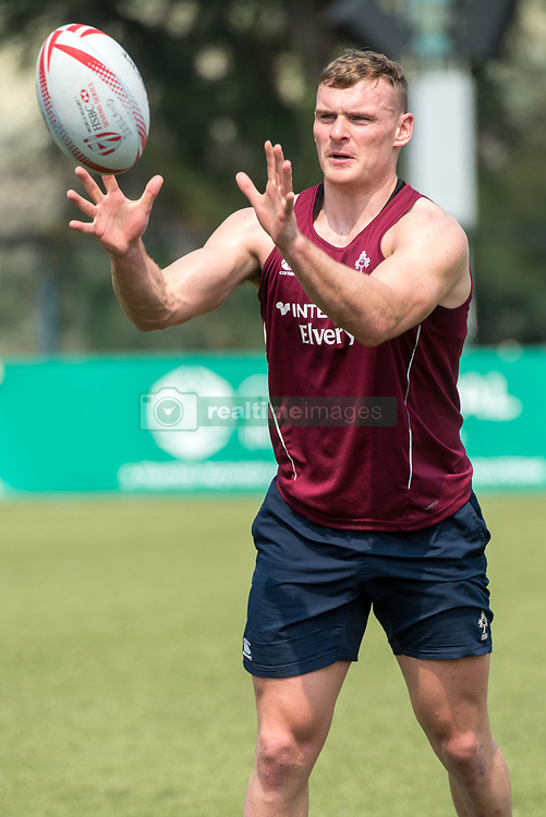 April 2, 2018 - Hong Kong, Hong Kong SAR, CHINA - HONG KONG,HONG KONG SAR,CHINA:April 2nd 2018. The Irish rugby team conduct a training session at Kings Park ahead of their Hong Kong Rugby 7's qualifiers.John O'Donnell runs with the ball (Credit Image: © Jayne Russell via ZUMA Wire)