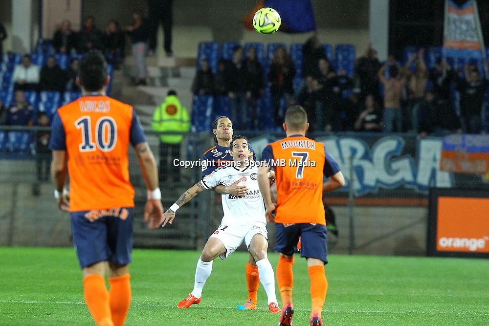Daniel Congre / Diego Rigonato - 14.03.2015 - Montpellier / Reims - 29eme journee de Ligue 1<br /> Photo : Andre Delon / Icon Sport