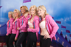 "© Licensed to London News Pictures. 12/05/2012. London, England. The Janet Reger Team with Nikki Zamblera, Aliza Reger, Nina Carter, Jilly Johnson and Anthea Turner. The MoonWalk London 2012, Celebrating 15 years of Moon Walking for the breast cancer charity ""Walk the Walk"". Photo credit: Bettina Strenske/LNP"