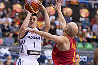 Spain Albert Oliver and Slovenia Matic Rebec during FIBA European Qualifiers to World Cup 2019 between Spain and Slovenia at Coliseum Burgos in Madrid, Spain. November 26, 2017. (ALTERPHOTOS/Borja B.Hojas)