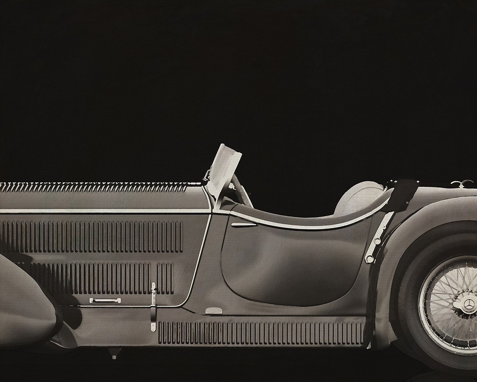 """The Mercedes-Benz SSK (W06) is a roadster built by German automobile manufacturer Mercedes-Benz between 1928 and 1932. The name is an abbreviation of Super Sport Kurz, German for """"Super Sport Short"""", as it was a short wheelbase development of the Mercedes-Benz Modell S. The SSK's extreme performance and numerous competitive successes made it one of the most highly regarded sports cars of its era. –<br /> <br /> <br /> BUY THIS PRINT AT<br /> <br /> FINE ART AMERICA<br /> ENGLISH<br /> https://janke.pixels.com/featured/mercedes-benz-ssk710-1930-jan-keteleer.html<br /> <br /> WADM / OH MY PRINTS<br /> DUTCH / FRENCH / GERMAN<br /> https://www.werkaandemuur.nl/nl/shopwerk/Mercedes---Benz-SSK710-1930-B-amp-W/545138/134"""