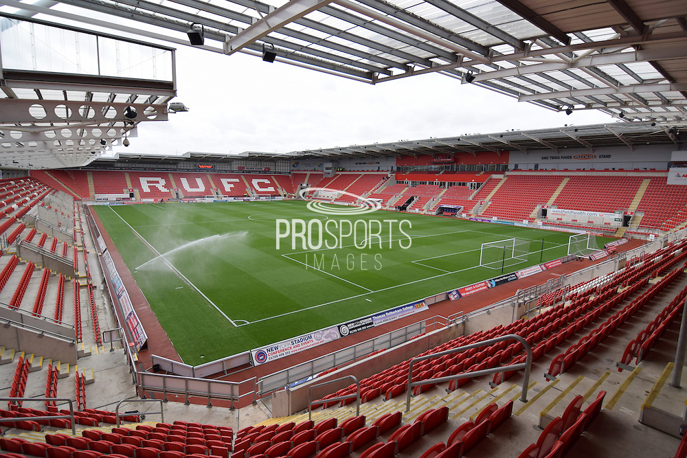 Rotherham Uniteds ground before the Sky Bet Championship match between Rotherham United and Wolverhampton Wanderers at the Aesseal  New York Stadium, Rotherham, England on 5 December 2015. Photo by Ian Lyall.