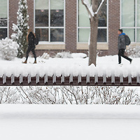 Winter campus scenes, snow, photo Patrick Sweeney
