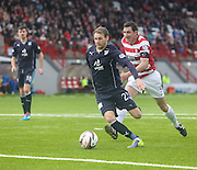 Martin Boyle pounces to score Dundee's goal - Hamilton v Dundee, SPFL Championship at <br /> New Douglas Park<br /> <br />  - &copy; David Young - www.davidyoungphoto.co.uk - email: davidyoungphoto@gmail.com