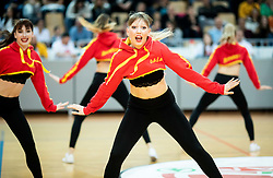 Cheerleaders Spar dancers perform during basketball match between KK Sixt Primorska and KK Hopsi Polzela in final of Spar Cup 2018/19, on February 17, 2019 in Arena Bonifika, Koper / Capodistria, Slovenia. Photo by Vid Ponikvar / Sportida