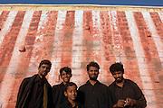 Pilfgrims at Kanyakumari shrine. The southern most point of India.