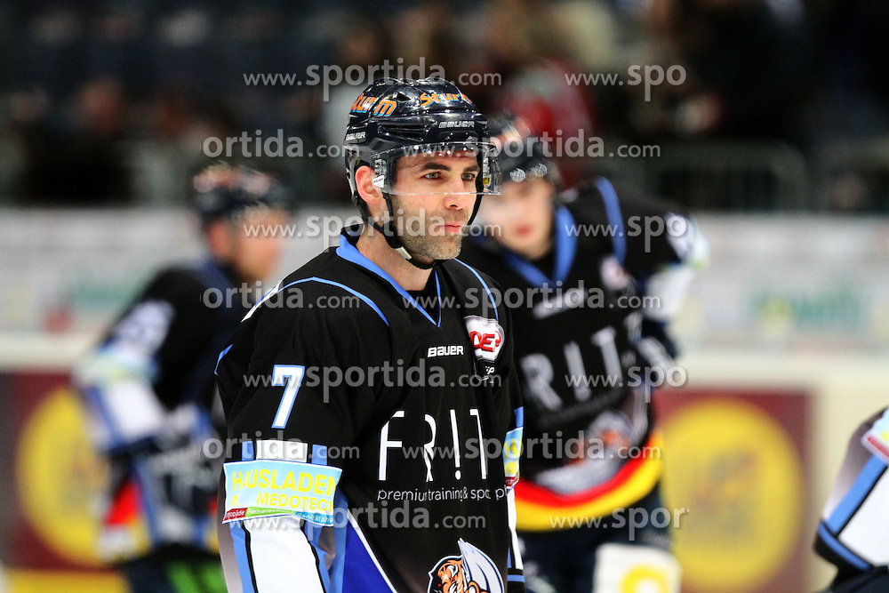 27.02.2015, Lanxess Arena, K&ouml;ln, GER, DEL, K&ouml;lner Haie vs Straubing Tigers, 51. Runde, im Bild Lurent Meunier (Straubing) // during Germans DEL Icehockey League 51st round match between K&ouml;lner Haie and Straubing Tigers at the Lanxess Arena in K&ouml;ln, Germany on 2015/02/27. EXPA Pictures &copy; 2015, PhotoCredit: EXPA/ Eibner-Pressefoto/ Weiss<br /> <br /> *****ATTENTION - OUT of GER*****