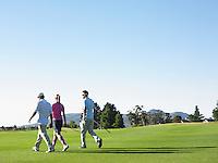 Three Golfers on Course