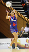 Angelina Yates receives a pass during round 4 of the ANZ Netball Championship - Queensland Firebirds v Northern Mystics. Played at Brisbane Convention Centre. Firebirds (46) defeated the Mystics (40).  Photo: Warren Keir (SMP/Photosport).<br /> <br /> Use information: This image is intended for Editorial use only (e.g. news or commentary, print or electronic). Any commercial or promotional use requires additional clearance.