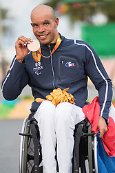 Podium, Bronze, Medal, JEANNOT Joel, H4, FRA, Cycling, Road Race à Rio 2016 Paralympic Games, Brazil