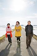 Risbonden Hisataka Suto tillsammans med sin fru Shizuyo Suto och sin dotter Aki Bond.<br /> Fotograf: Christina Sjögren<br /> Copyright 2018, All Rights Reserved