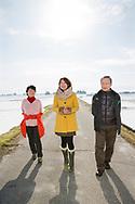 Risbonden Hisataka Suto tillsammans med sin fru Shizuyo Suto och sin dotter Aki Bond.<br /> Fotograf: Christina Sj&ouml;gren<br /> Copyright 2018, All Rights Reserved
