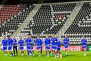 ALKMAAR - 19-10-2016, training persconferentie Maccabi Tel Aviv, AFAS Stadion, Maccabi Tel Aviv Haris Medunjanin