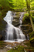 View of Lower Crabtree Falls, located in the Blue Ridge mountains of Nelson county, Virginia