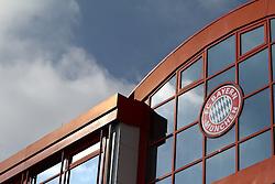 06.03.2011, Trainingsgelaende, Muenchen, GER, 1.FBL, Training FC Bayern Muenchen , im Bild geschaeftsstelle fc Bayern mit logo , EXPA Pictures © 2011, PhotoCredit: EXPA/ nph/  Straubmeier       ****** out of GER / SWE / CRO  / BEL ******