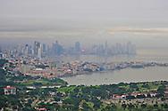 Aerial views of Panama, including Amador Causeway, Old Panama and Panama Skyline.