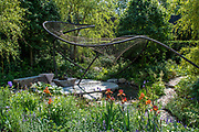 The Wedgwood Garden, Sponsor: Wedgwood, Designer: Jo Thompson and<br /> Contractor: Bespoke Outdoor Spaces - The RHS Chelsea Flower Show at the Royal Hospital, Chelsea.
